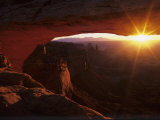 Sunrise in the Desert  Mesa Arch  Island in the Sky  Canyonlands National Park  Utah  USA