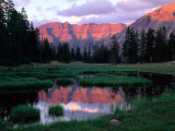 Ostler Peak at Sunset  Stillwater Fork of Bear River Drainage  High Uintas Wilderness  Utah  USA