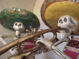 Day of the Dead  Lifesized Wooden Mariachis  Oaxaca  Mexico