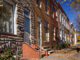 Row Houses in Fells Point Neighborhood  Baltimore  Maryland  USA