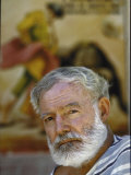 "Author Ernest Hemingway Near Malaga  Spain Where He Wrote ""The Dangerous Summer"""