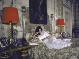 Sophia Loren in Her Bedroom at the Villa