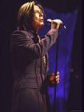 Singer David Bowie Performing