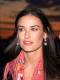 Actress Demi Moore at Debut of Talk Magazine at Liberty Island