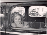 Actress Shirley Temple Arriving at 20th Century Fox Film Studio Lot to Celebrate Eighth Birthday