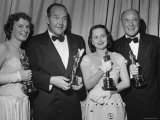 Oscar Winners Mercedes McCambridge and Dean Jagger During 22nd Annual Academy Awards