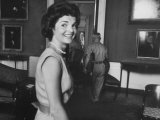 First Lady Jackie Kennedy Supervising Workman in Room at the White House