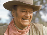 "Actor John Wayne During Filming of Western Movie ""The Undefeated"""