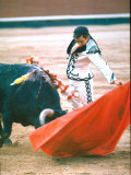 Matador Waving His Cape During a Bullfight Honoring the Artist Francisco de Goya