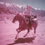 Actor/Singer Gene Autry Riding Horse at His Ranch in Ca