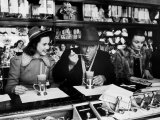 Deanna Durbin having Ice Cream Soda at Counter with Eddie Cantor During Visit to the City