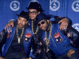 Rap Group Run DMC at the Grammys Joe Simmons  Darryl McDaniels and Jason Mizell