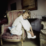 "Actress Hayley Mills in Old Fashioned Dress at Time of Making Movie ""Pollyanna"""