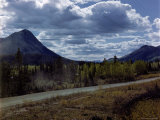 Alcan Highway Stretching from Dawson Creek  British Columbia  Canada to Fairbanks  Alaska  USA