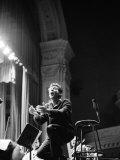 Leonard Bernstein Conducting Mahler's Symphony During NY Philharmonic Rehearsal at Carnegie Hall