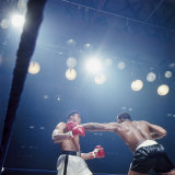 Boxers Sonny Liston and Cassius Clay During Match