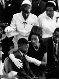 Widow of Slain Civil Rights Activist Medger Evers Comfort Her Grieving Son Darrell During Funeral