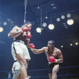 Boxers Cassius Clay and Sonny Liston During Match  in Lewiston  Maine