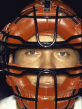 Portrait of Cincinnati Redlegs' Catcher Johnny Bench with Face Mask On