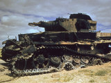 German Armor after Desert Fighting Between American and German Forces in the El Guettar Valley