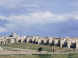 Walled City of Avila with Cathedral in Center Rebuilt by Alfonso VI in 1090 Ad