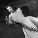 "Actress Katharine Hepburn on the Broadway Set of ""The Philadelphia Story"""