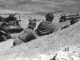 American Soldiers Taking Cover in Kasserine Valley During the Fighting in North Africa in WWII