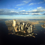 Aerial View of Manhattan from New York Harbor