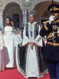 Empress Farah Leaving Golestan Palace After Coronation of Her Husband Shah Mohammed Reza Pahlevi