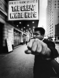 "Heavyweight Boxer Muhammad Ali Outside the Alvin Theater Where ""The Great White Hope"" is Playing"