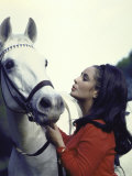 Actress Elizabeth Taylor with Horse During Filming of &quot;Reflections in a Golden Eye&quot;