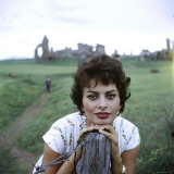 Portrait of Actress Sophia Loren
