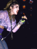 Singer Madonna Performing
