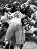 Football: Chicago Bears Dick Butkus No51 in Action Vs Detroit Lions