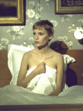 Actress Mia Farrow During Filming of the Motion Picture &quot;A Dandy in Aspic&quot;
