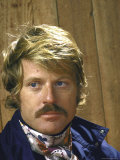 Portrait of Moustachioed Actor Robert Redford