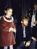 Actress Drew Barrymore and Father John Barrymore III