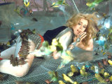 Jane Fonda is Preyed Upon by Parakeets and Finches in Scene from Roger Vadim&#39;s &quot;Barbarella&quot;