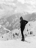 Actor Robert Redford Skiing