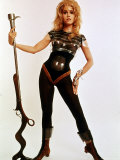 Jane Fonda  Wearing Space Age Costume in Publicity Still from Roger Vadim&#39;s Film &quot;Barbarella&quot;