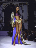 Model Naomi Campbell on Fashion Runway