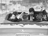 Photographer Taking Photo of Robert F Kennedy on His Campaign Trail
