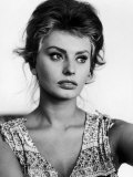 Actress Sophia Loren at Home Aluminium par Alfred Eisenstaedt