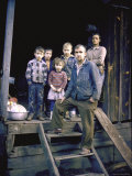 Unemployed Miner Standing with Family  Who Live on Social Security  Poverty in Appalachia