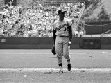 Los Angeles Dodgers Pitcher Sandy Koufax Taking the Field During Game Against the Milwaukee Braves