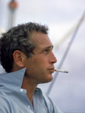 Actor Paul Newman Taking a Cigarette Break