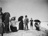 Children to Elderly  All Dressed Up by the Shoreline of Beach at Stokemus  Near Sea Bright