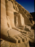Edifice Built by Ramses II with Figures of Son and Queen Nefertari and Falcons