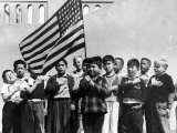 American Children of Japanese  German and Italian Heritage  Pledging Allegiance to the Flag
