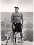 Author Ernest Hemingway Deep Sea Fishing in Waters Off Havana